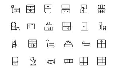 Furniture Line Icons 3
