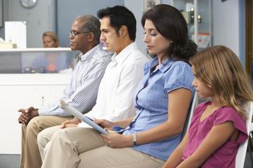 Fototapeta Patients In Doctors Waiting Room obraz