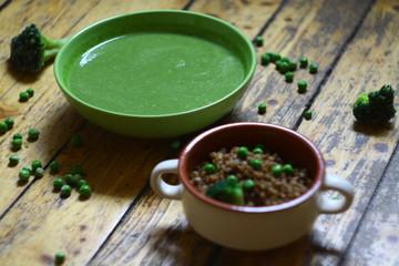 Buckwheat Peas Cream soup