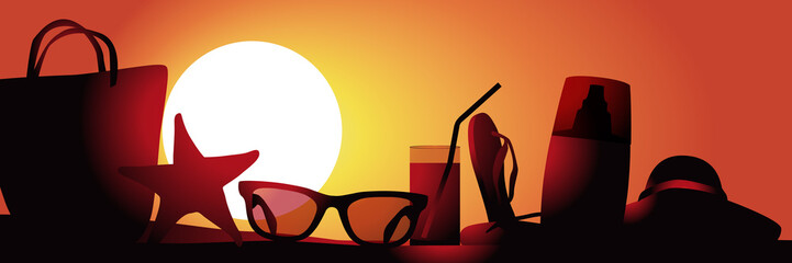 Vacances Plage-couche de soleil