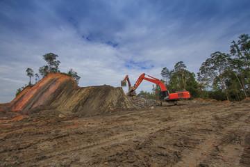Deforestation environmental destruction in Borneo Malaysia