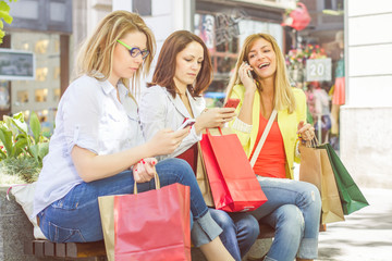 Shopping Female Friends