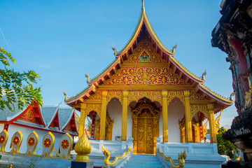 Buddhist temple with gold.Luang Prabang.Laos.