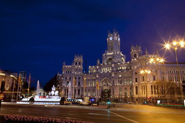 Night view of Madrid City Council