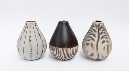 Design ceramic vase collection on white background