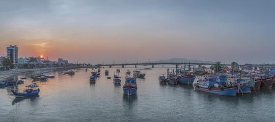 Vietnam, Nha Trang. Panorama. Fishing village