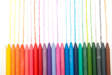 colorful of crayon