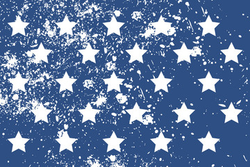 Pattern with american stars in grunge style