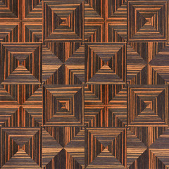 Abstract triangle pattern - seamless background - Ebony wood tex