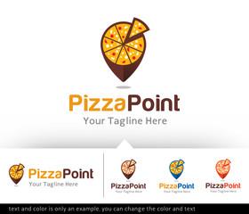 Pizza Point Locator Logo Design