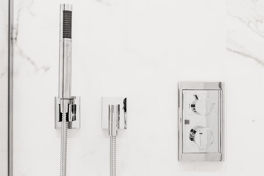 Modern bathroom fixtures and fittings