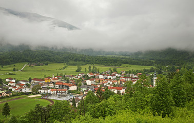 Kobarid. Panoramic view. Slovenia