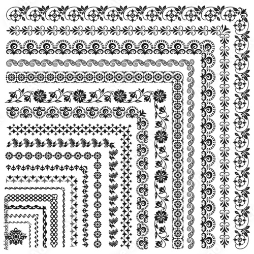 Set of vector frames and borders\
