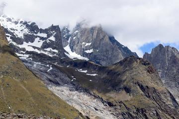 Ex Ghiacciaio - Canalone residuale roccioso -  Catena del Monte Bianco