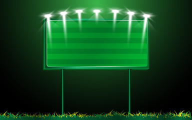 vector scoreboard and grass background