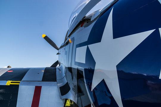 Rear quarter close up port view of airplane