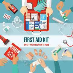 First aid kit and emergency medical team