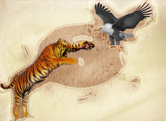 Tiger And Eagle
