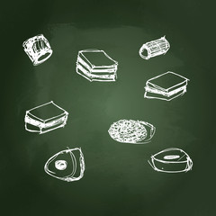 illustration of a selection of sweets