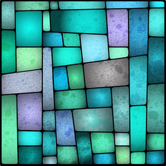 Bright and colourful stained galss window