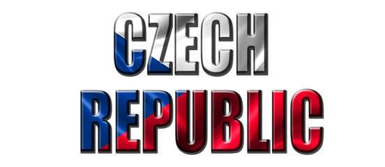 Text concept with Czech Republic waving flag