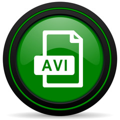 avi file green icon