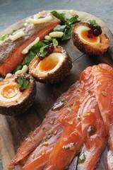 sea trout salmon platter