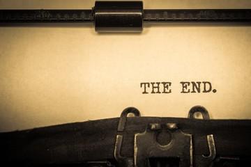 Typewriter, Writing, The End.