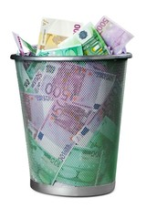 European Union Currency, Garbage, Currency.