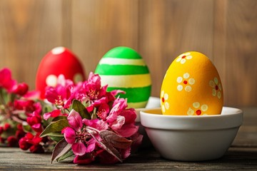 Easter, colorful, retro.