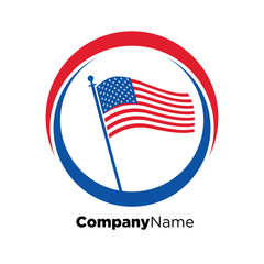 America USA logo icon vector