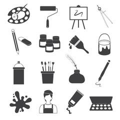 Art Icons Vector Set