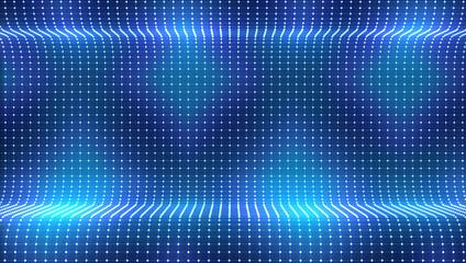 Fotobehang - dot blue light