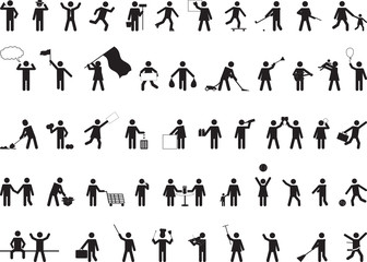 Common pictogram people activities