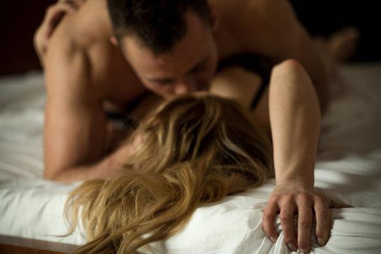 Erotic couple making love