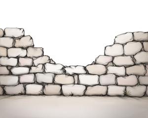Kaputte Mauer