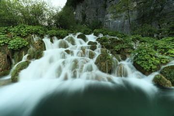 Foto op Canvas Plitvicer Seen in Kroatien