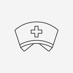 nurse hat line icon