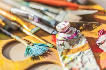 Paint, studio, art.