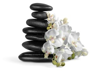Spa Treatment, Orchid, Stone.