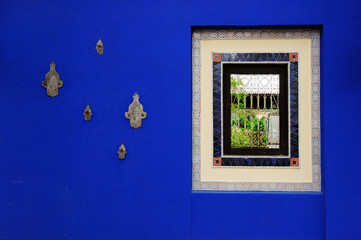 Moroccan Sapphire Blue Wall Paint with window