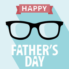 Happy fathers day card vintage retro type font.