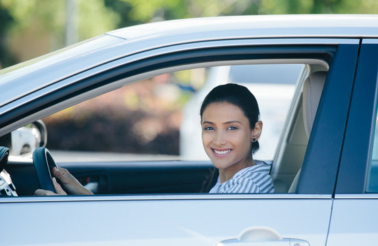 Driving happy in new car