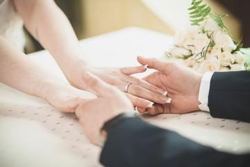 bride groom hands