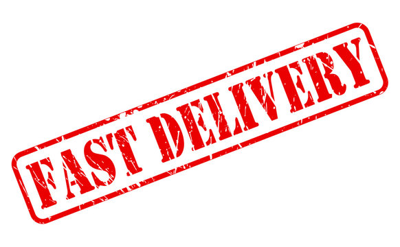 Fast delivery red stamp text