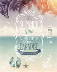 Wall Mural - Summer time poster.