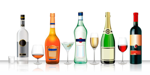 Bottles of wine champagne clipart background