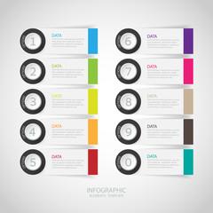 infographics options banner. Vector illustration