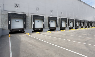 Gates of Big distribution warehouse