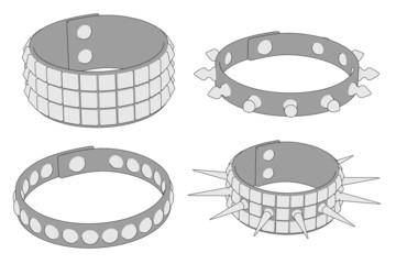 cartoon image of punk bracelets